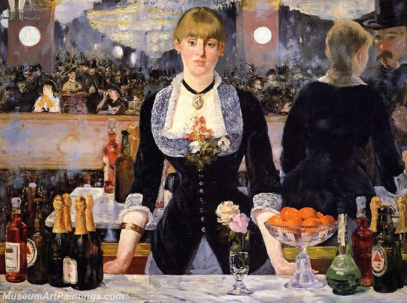 A Bar at the Folies Bergere Painting