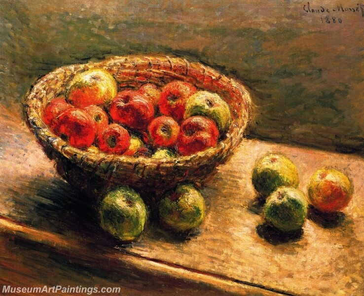 A Basket of Apples Painting