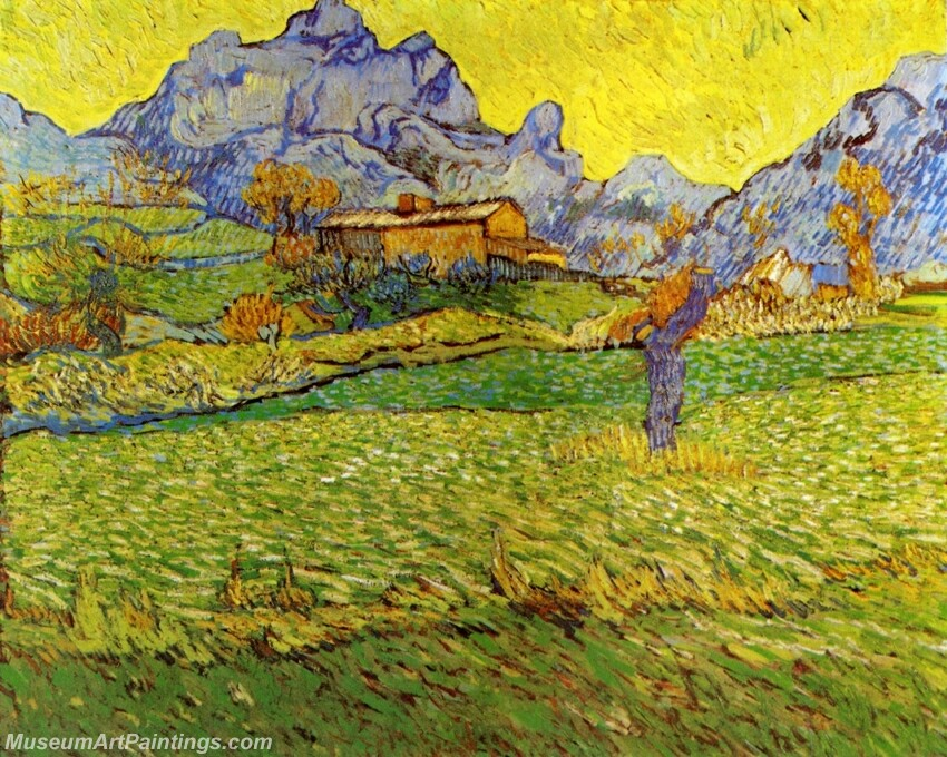 A Meadow in the Mountains Le Mas de Saint Paul Painting