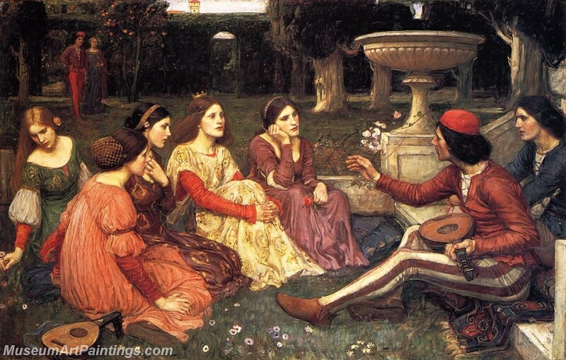A Tale from the Decameron Painting