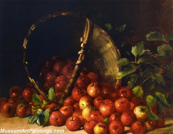 Apples in an Overturned Basket
