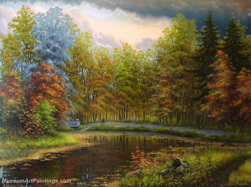 Autumn Landscape Paintings 010