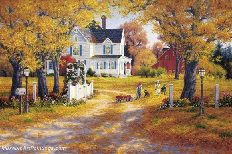 Autumn Landscape Paintings 011