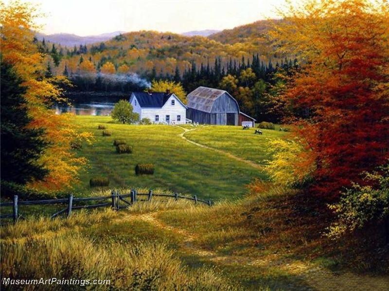Autumn Landscape Paintings 016