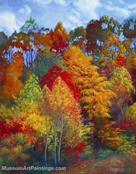 Autumn Landscape Paintings 018