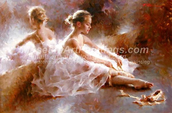 Ballet Oil Painting 042
