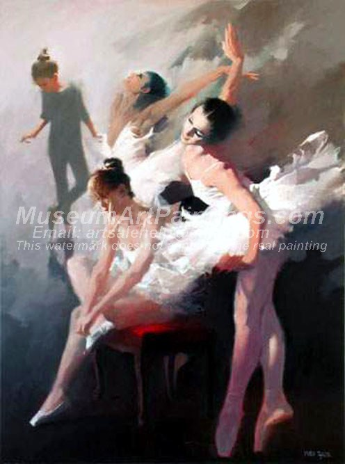 Ballet Oil Painting 121