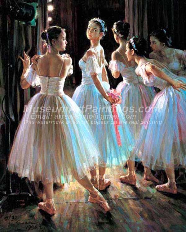 Ballet Oil Painting 124