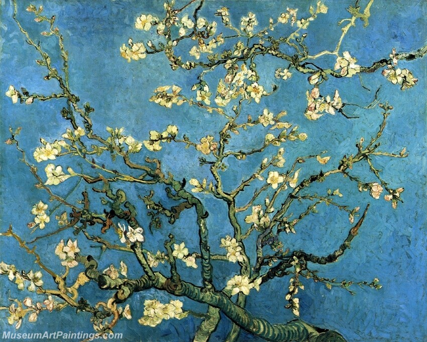 Branches with Almond Blossom Painting