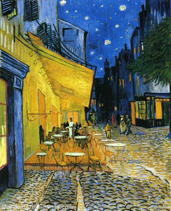 Cafe Terrace on the Place du Forum (also known as Cafe Terrace at Night) Painting