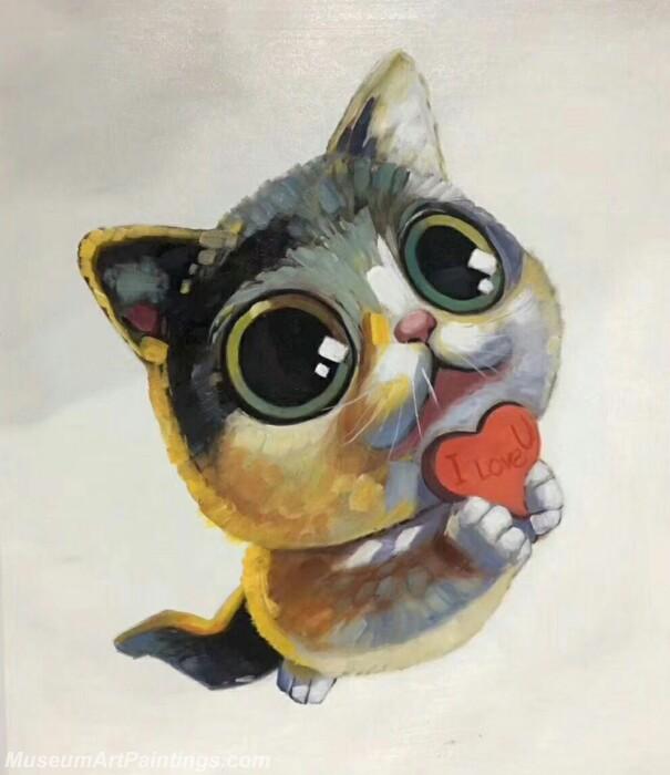 Cartoon Painting Cat CPC4