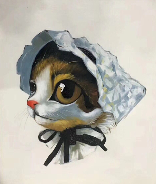 Cartoon Painting Cat CPC6