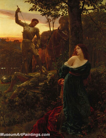Chivalry Painting by Sir Frank Dicksee