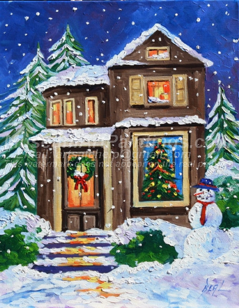 Christmas Oil Paintings 072