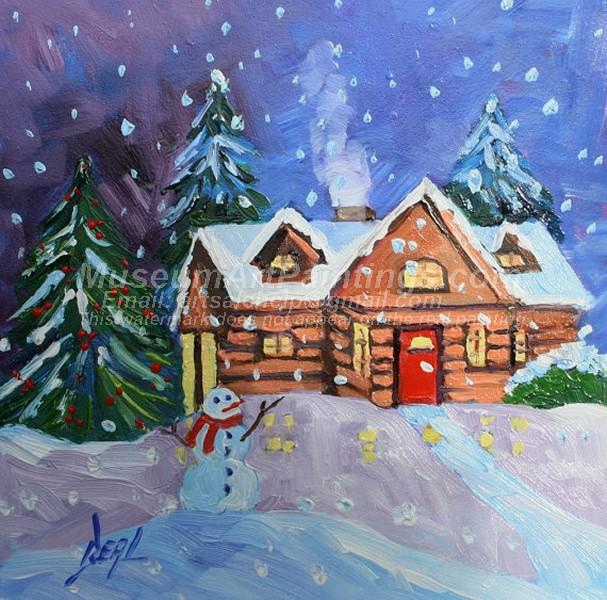 Christmas Oil Paintings 073