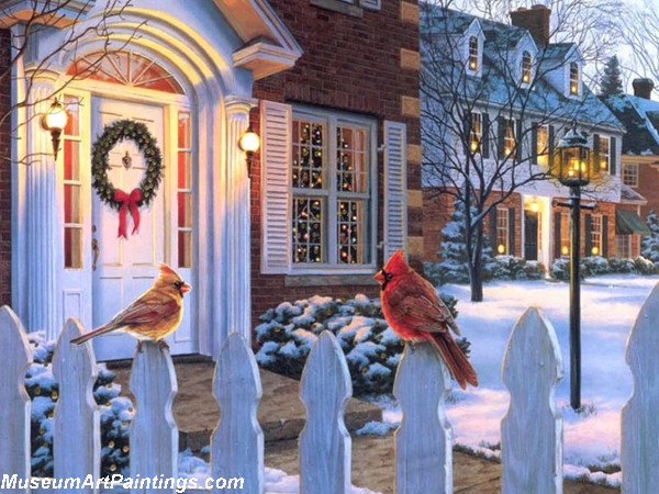 Christmas Oil Paintings 109