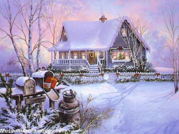 Christmas Oil Paintings 115