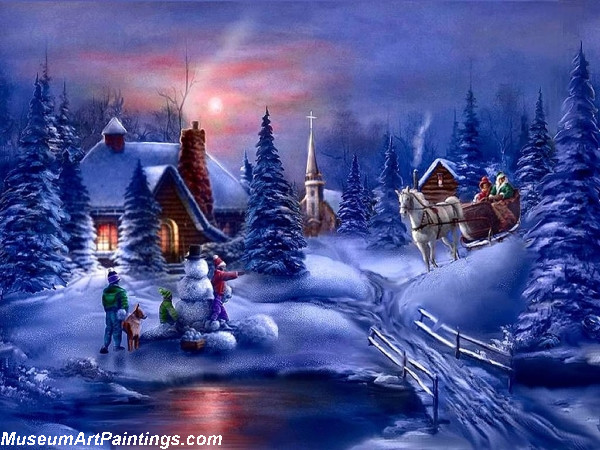 Christmas Painting Winter Fun
