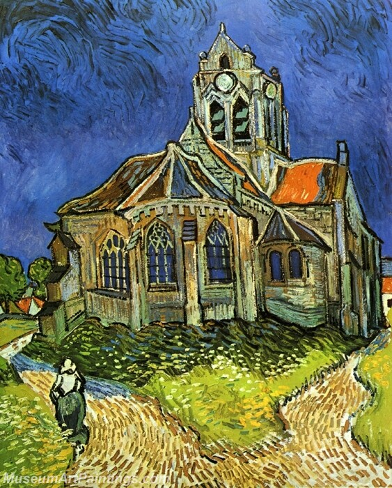Church at Auvers (also known as The Church at Auvers) Painting