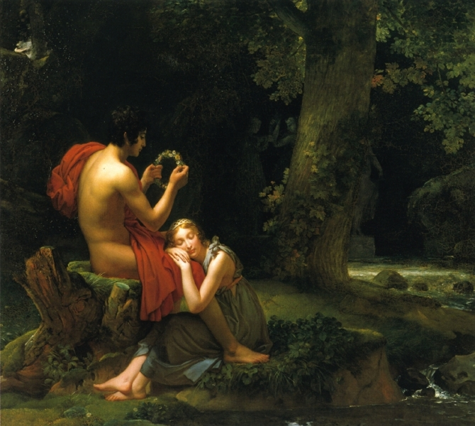 Daphnis and Chloe by Baron Francois Gerard