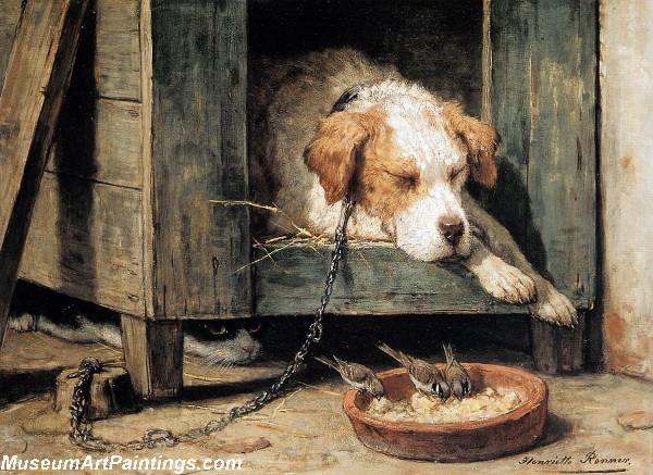 Dog Painting Les Parasites