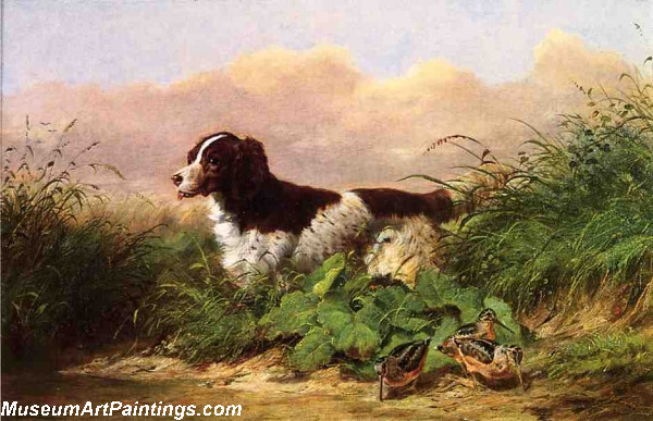 Dog Painting Setter and Woodcock