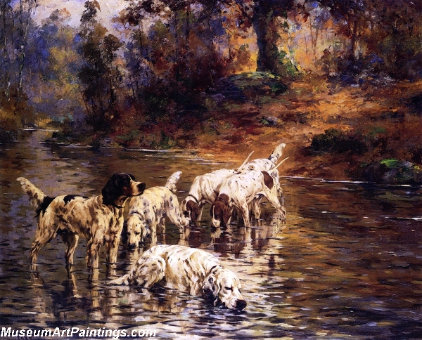 Dog Painting The Cooling Stream