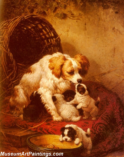 Dog Portrait Painting The Happy Litter