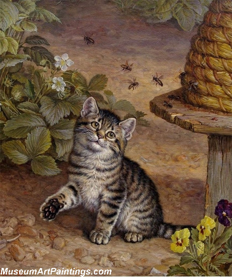 Famous Cat Paintings The Folly of Innocence