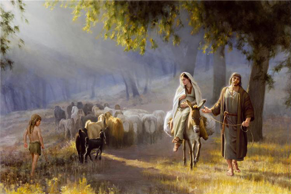Famous Christmas Paintings Journey to Bethlehem