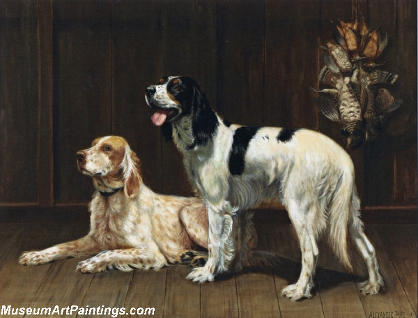 Famous Dog Paintings A Pair of Setters