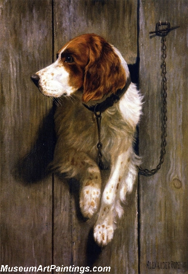 Famous Dog Paintings At the Kennel Door