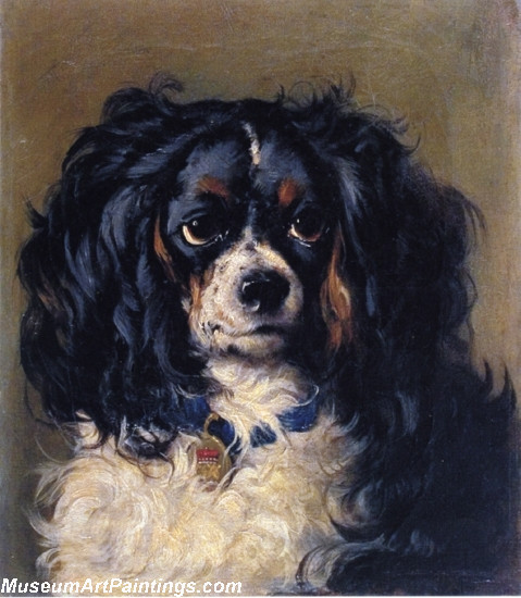 Famous Dog Portrait Painting Dash by Gourlay Steell