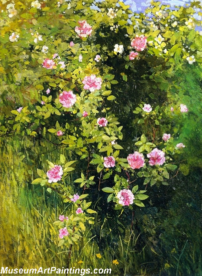 Flower Garden Paintings Rose Rambler