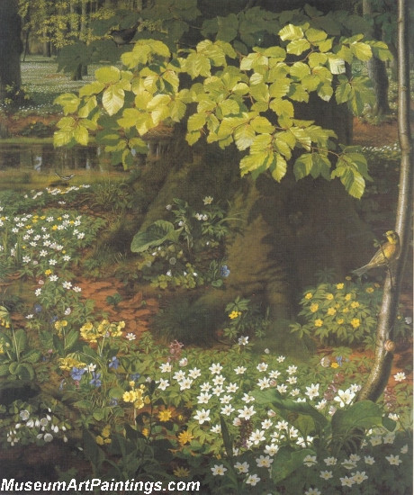 Flower Garden Paintings Spring in Charlottenlund