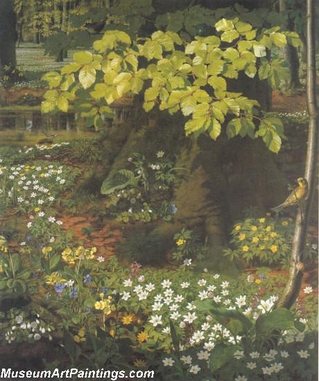Flower Garden Paintings Spring in Charlottenlund