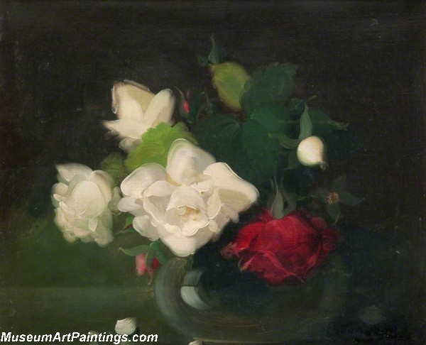 Flower Oil Painting Roses 1
