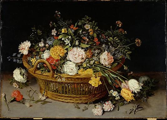 Flower Paintings A Basket of Flowers