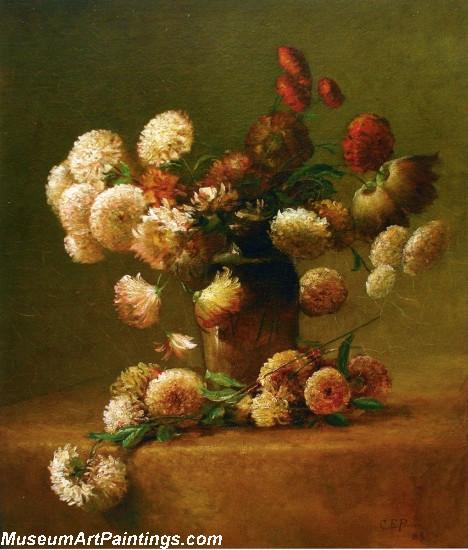 Flower Paintings Chrysanthemums