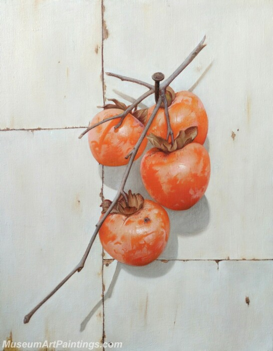 Fruit Painting Persimmons