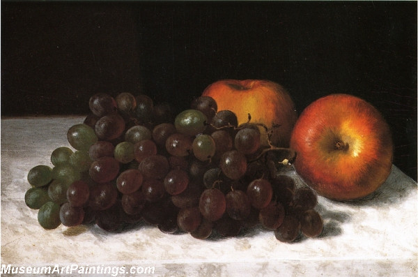 Fruit Paintings Still Life with Grapes and Apples