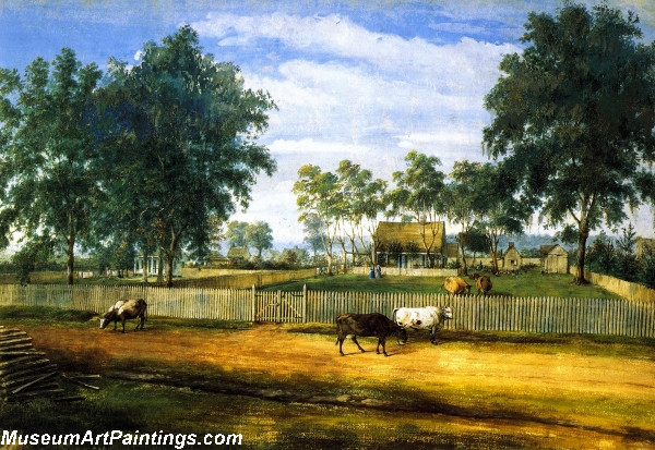 Garden Painting Daigre House by Marie Adrien Persac