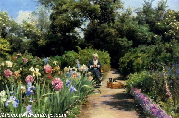 Garden Painting Knitting in the Garden