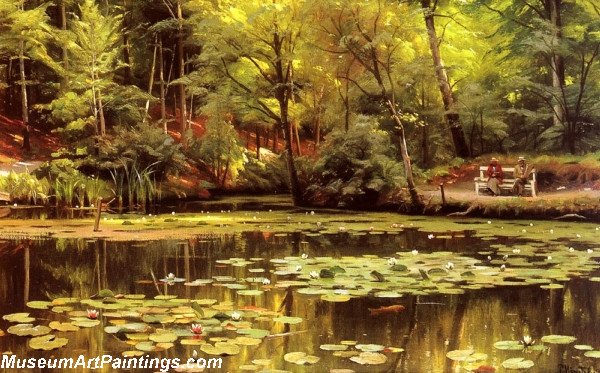 Garden Painting Waterlilies