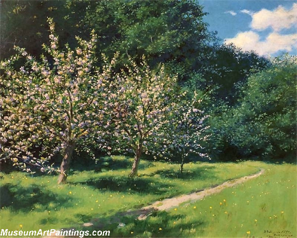 Garden Paintings Apple Blossoms