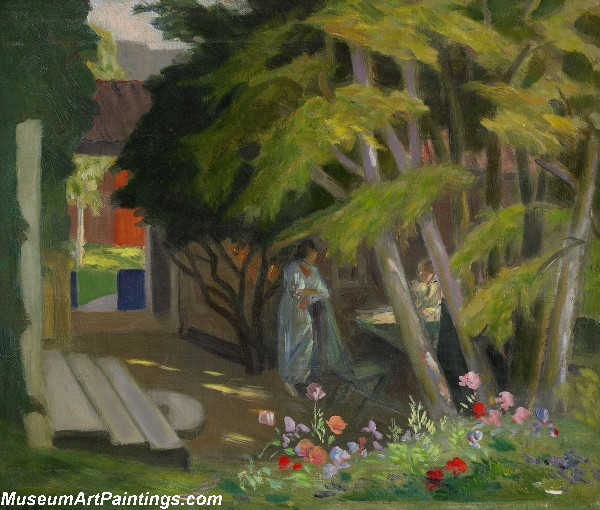 Garden with a Woman Painting