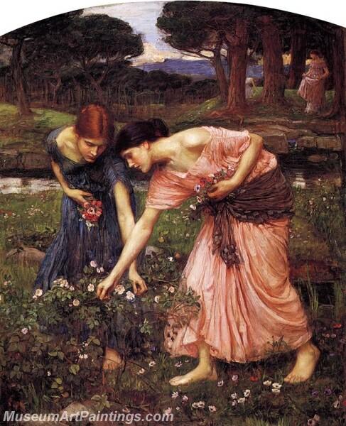 Gather Ye Rosebuds While Ye May 01 Painting