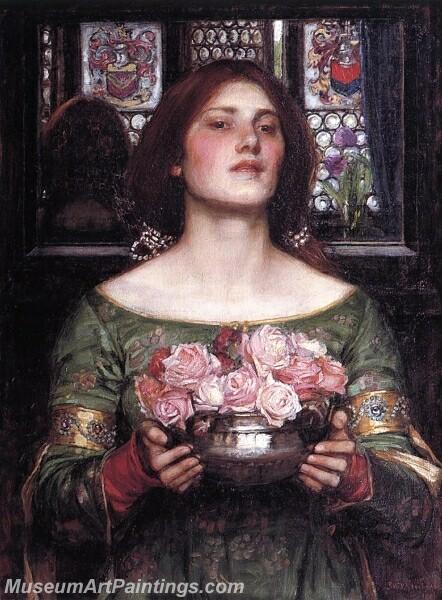 Gather Ye Rosebuds While Ye May Painting