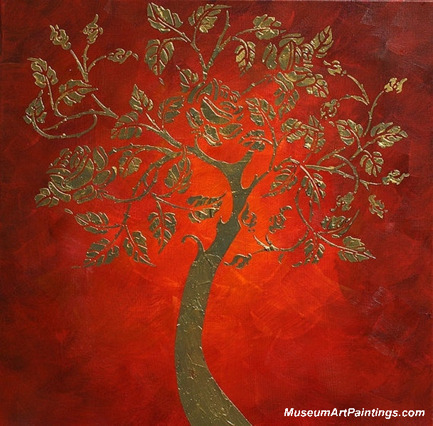Gold Tree Landsacape Painting 006