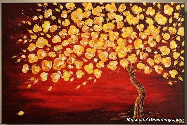Gold Tree Landscape Painting 001